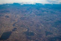 西班牙的看法从飞机的 免版税库存图片