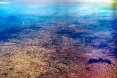 西班牙的看法从飞机的 库存图片