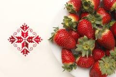 从西班牙的草莓 库存图片