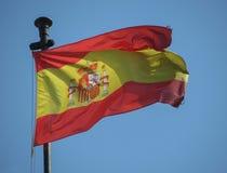 西班牙的西班牙旗子 图库摄影