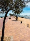 西班牙的3月Menor,散步 免版税库存照片