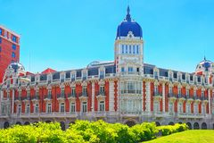 西班牙的Square Plaza de西班牙帕拉西奥是一个大正方形, a 免版税图库摄影
