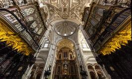西班牙科多巴大教堂清真寺 库存照片