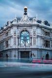 西班牙老大厦银行  免版税库存图片