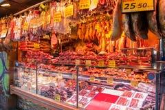 西班牙肉店 图库摄影