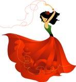 西班牙舞蹈演员 皇族释放例证