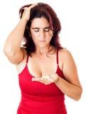 西班牙藏品批次药片哀伤的妇女 免版税库存照片