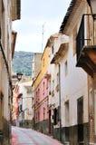 西班牙街道典型的村庄 库存图片