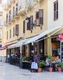 西班牙街道咖啡馆在马拉加 库存图片