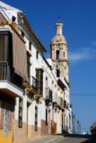 西班牙街道,阿吉拉尔德拉夫龙特拉 免版税库存照片