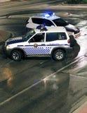 西班牙警察路障 库存图片
