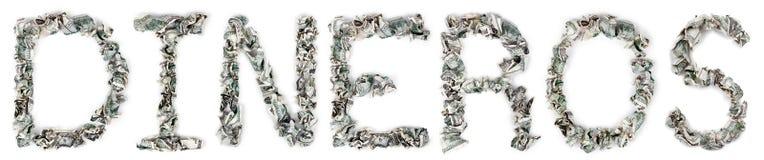 钱-起皱的100$票据 免版税库存照片