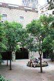 西班牙语人聚居的区域gotico在巴塞罗那 库存照片