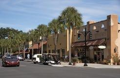 西班牙语在佛罗里达美国反弹一个小镇 免版税图库摄影