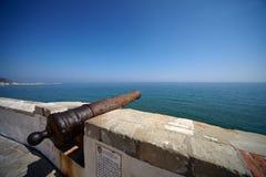 西班牙语大炮老的sitges 免版税图库摄影