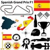 西班牙语格兰披治F1 向量例证