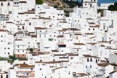 西班牙语白色的房子 免版税库存图片