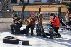西班牙语的吉他弹奏者 免版税库存照片