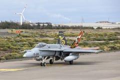 西班牙语空军队Eurofighter 免版税库存图片