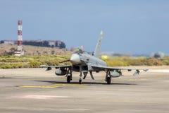 西班牙语空军队Eurofighter 库存照片