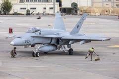 西班牙语空军队Eurofighter 图库摄影