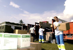西班牙语红十字会 免版税库存照片