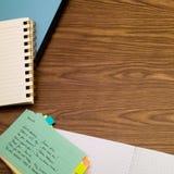 西班牙语;学会在笔记本的新的语言文字词 图库摄影