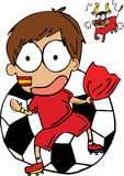 西班牙足球运动员 皇族释放例证