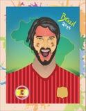 西班牙足球迷 库存例证