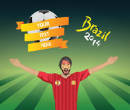 西班牙足球迷 库存图片