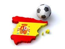 西班牙足球 免版税图库摄影