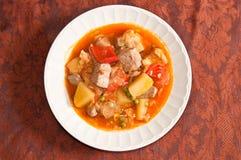 西班牙金枪鱼炖煮的食物 免版税库存图片