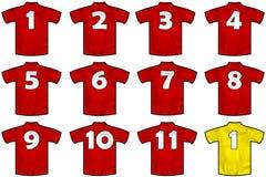 西班牙队衬衣 库存图片
