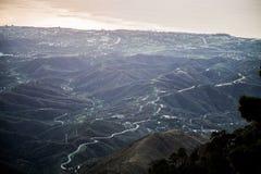 西班牙青山美丽如画的看法  免版税图库摄影