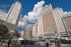 西班牙马德里广场 免版税库存图片