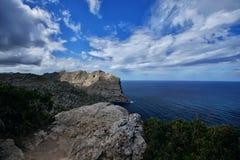 西班牙马略卡Cap De Formentor 库存图片