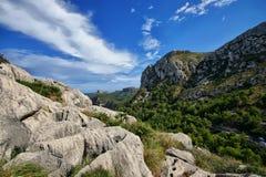 西班牙马略卡Cap De Formentor 免版税库存照片