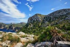 西班牙马略卡Cap De Formentor 库存照片
