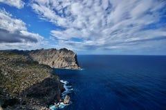 西班牙马略卡Cap De Formentor 免版税库存图片