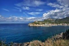 西班牙马略卡Port de索勒 图库摄影