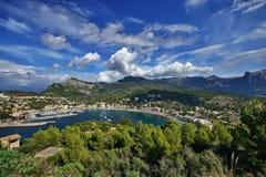 西班牙马略卡Port de索勒 免版税库存照片