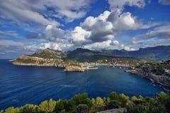西班牙马略卡Port de索勒 库存图片