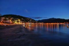 西班牙马略卡Port de索勒 免版税库存图片