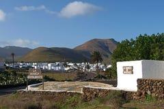 西班牙,兰萨罗特岛, Yaiza 图库摄影