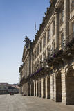 西班牙,加利西亚,孔波斯特拉的圣地牙哥,大教堂广场,城市C 免版税图库摄影