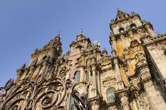 西班牙,加利西亚,孔波斯特拉的圣地牙哥,大教堂 免版税库存图片