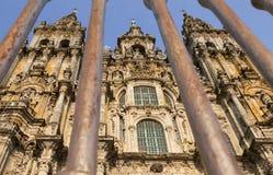 西班牙,加利西亚,孔波斯特拉的圣地牙哥,大教堂 库存图片