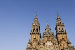 西班牙,加利西亚,孔波斯特拉的圣地牙哥,大教堂 库存照片