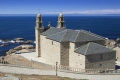 西班牙,加利西亚,穆希亚, Virxe de la巴尔卡角圣所 库存照片