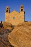 西班牙,加利西亚,穆希亚, Virxe de la巴尔卡角圣所 图库摄影